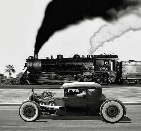 Beautiful Rat Rod in Black & White