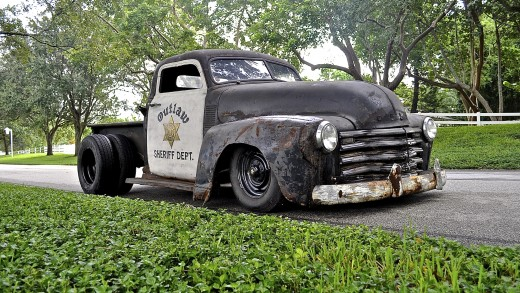 Ordinance Chevy Pick Up-162 and Sheriff rat rod :)