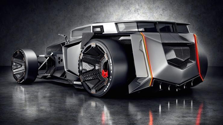 Lamborghini Rat Rot Futuristicback