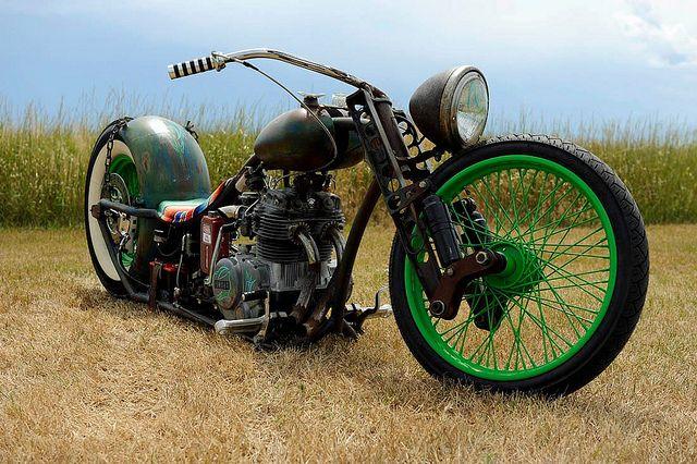 Unique Rat Rod Motorcycle Bobber