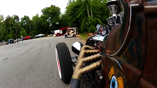 rat rod drag race video