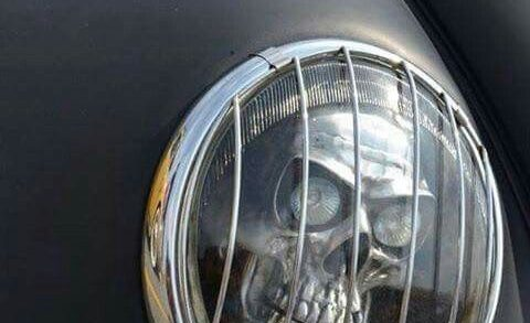 Rat Rod skull headlight….