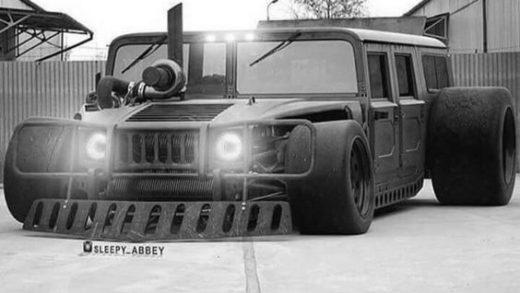 Sick #RATROD Diesel Hummer