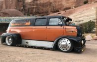 Custom Classic Ford COE crew cab dually. At the Arizona state line